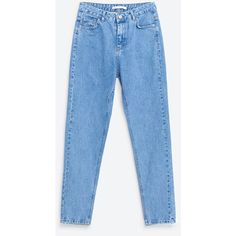 MOM JEANS - JEANS-TRF | ZARA United States ($40) ❤ liked on Polyvore featuring jeans and blue jeans
