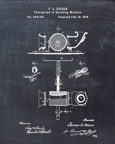 Hey, I found this really awesome Etsy listing at https://www.etsy.com/listing/205797133/patent-print-phonograph-patent-art-print