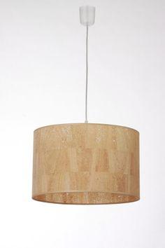 Lampenschirm D.40 cm, H.25 cm, Kork von Leuchtenmanufaktur Brodauf auf DaWanda.com