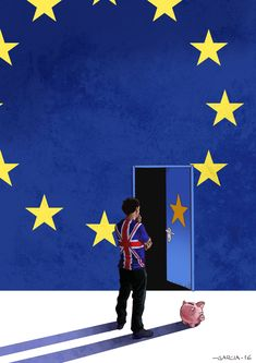 Art by Daniel Garcia - Brexit (illustration, editorial, brexit, UK, EU, europe, referendum)