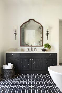 Luxury Moroccan Bathroom Design With Exotic Extravagance Moroccan Bathroom, Boho Bathroom, Bathroom Faucets, Modern Bathroom, Bathroom Black, Spanish Bathroom, Spanish Style Bathrooms, Ikea Bathroom, Mirror Bathroom