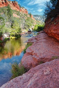 Oak Creek, Slide Rock State Park, Arizona; photo by Silvio Ligutti