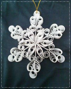 My preparation Quilling Images, Paper Quilling, Snowflakes, Silver, Crafts, Jewelry, Craft Ideas, White People, Stars