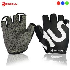 Boodun Men GEL Cycling Gloves  Bicycle Racing Sport Road Mountain MTB Half Finger Glove Breathable Bike guantes ciclismo luvas