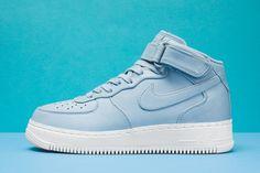 "NikeLab Air Force 1 Mid ""Blue Grey"" - EU Kicks Sneaker Magazine"