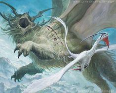 Artful Maneuver - Dragons of Tarkir MtG Art #dragon