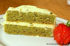 """Cake """"Chamei"""" with Green Tea & Passion Mousse // Ciasto """"chamei"""" z zieloną herbatą i musem z pasji"""