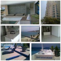 Apartamento con vista al mar  En venta! Para estrenar Rodadero Sur- Edificio dotado con piscina, gimnasio, salón comunal, sauna turco, parque infantil y cancha de squash. #venta #santamarta #inmobiliaria