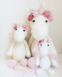 "85 Likes, 13 Comments - Hæklehimlen (@haeklehimlen) on Instagram: ""Baby-unicorn joins the family inspiration @vibemai pattern @mykrissiedolls #crochettoys…"""