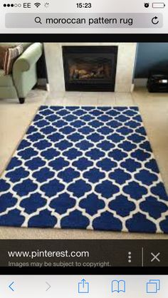 Moroccan patterned rug