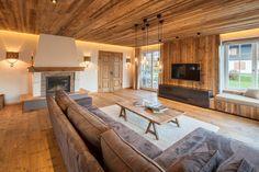Johann in Tirol: Wohnzimmerneugestaltung – Basement İdeas 2020 Barn Living, Cool Rooms, Basement Remodeling, Rustic Style, Future House, Living Room Designs, Bungalow, House Design, Interior Design