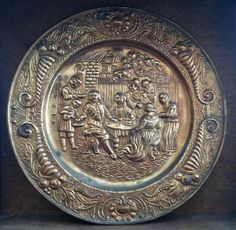 Vintage English Gold Wall Decor Plate by EnglishShop on Etsy, $75.00