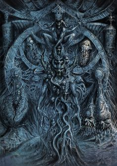 scenografia Tverion Dark Fantasy Art, Fantasy Images, Fantasy Artwork, Dark Art, Dark Images, Dark Pictures, Baphomet, Arte Horror, Horror Art
