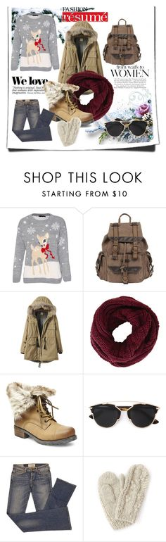 """winter"" by carolstos on Polyvore featuring Wilsons Leather, BCBGMAXAZRIA, Steve Madden, Christian Dior, Elizabeth and James, Bibico and Zara"