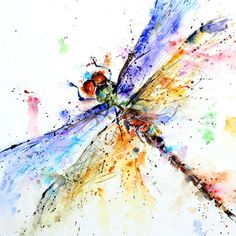DRAGONFLY Watercolor print by Dean Crouser by DeanCrouserArt, $25.00