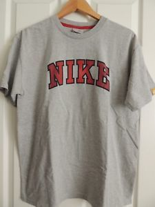 cce2eb66 Vintage NIKE Spell Out T-Shirt Gray Men's XL Gray Tag 90s Rare Retro