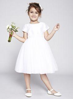 Alexa White Bridesmaid Dress