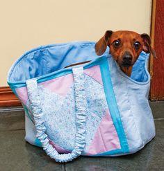 Bolsa para carregar cachorrinho passo a passo e com molde                                                                                                                                                                                 Mais