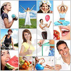 Un collage que nos muestra el equilibrio que debe existir entre el ejercicio físico, lo nutricional y lo emocional para llevar un adecuado desarrollo y sentirnos bien no solo en términos de imagen corporal sino en términos de salud y bienestar.