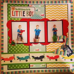 little boy scrapbook layouts | Little boy scrapbook layout