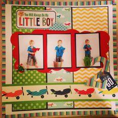 little boy scrapbook layouts | Little boy scrapbook layout