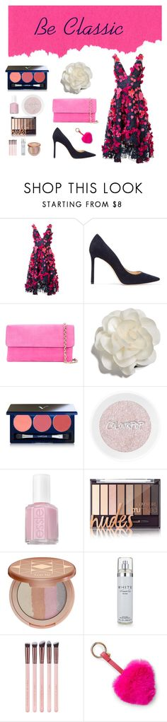 """""""Dressing Classy💘"""" by babesitsemma ❤ liked on Polyvore featuring Notte by Marchesa, Jimmy Choo, Casadei, Cara, Vapour Organic Beauty, Essie, tarte, Kenneth Cole and Bari Lynn"""