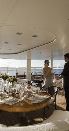Sailing on the Costa del Sol Luxury Yacht Interior, Luxury Yachts, Boat Rental, Sailing, Table Settings, Deck, Table Decorations, Elegant, Interiors