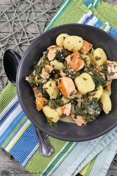 Gnocchi-Lachs-Pfanne mit Spinat   Rezept   Kochen   Essen   Weight Watchers
