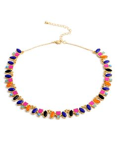 Another great find on #zulily! Don't AsK Pink & Orange Bib Necklace by Don't AsK #zulilyfinds