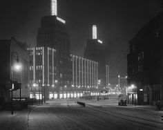 BERLIN 1930, Karstadt am Hermannplatz in Neukölln bei Nacht