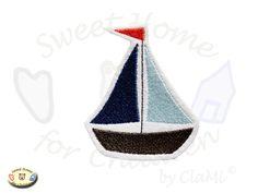 Segelboot applikation  Aufnäher Segelboot ♥ Applikation Boot ♥ maritim