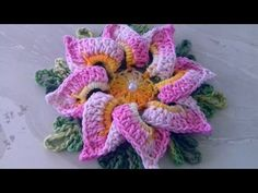 VIDEO AULA DA FLOR EM CROCHÊ SUPER FÁCIL,VEJA O PASSO A PASSO COM CRISTINA COELHO ALVES - YouTube Crochet Flower Patterns, Crochet Designs, Crochet Flowers, Crochet Lace, Embroidery Patterns, Crochet Diagram, Freeform Crochet, Crochet Stitches, Rainbow Crochet