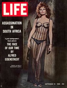Sophia-Loren-Controversial-Life-Magazine-Covers  This Day in History: Nov 23, 1936: First issue of Life is published http://dingeengoete.blogspot.com/