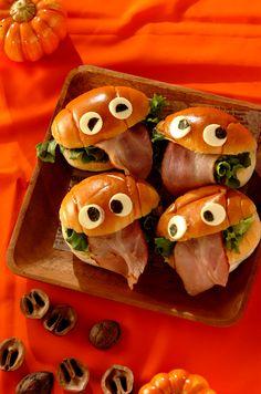 お化けサンドイッチ #halloween #food #recipe #ハロウィン