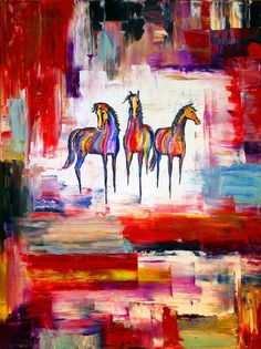 Mexican horse painting