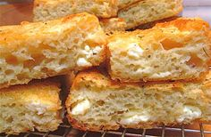 """Quick, think of five baking aromas that bring you running to the kitchen to see what's up. (And no, you can't count """"fruit pie filling burning on the oven floor"""" as one of them. Greek Recipes, Real Food Recipes, Cooking Recipes, Yummy Food, Greek Bread, Greek Appetizers, Sweet Pizza, Yeast Bread Recipes, Savory Muffins"""