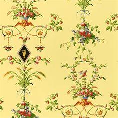 Pompadour –Wallpaper  Collection Promenade  Colorway Yellow  SKU T908