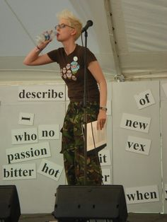 Back when I was cool - a performance at Latitude Festival.