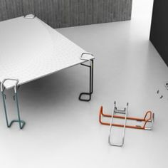 Clipp, an easy to install table leg from DLF which can be attached to nearly every kind of table top.
