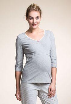 Night top 3/4 sleeve (1) - Maternity nightwear / Nursing nightwear