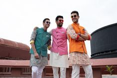 Statement JadeBlue Kurtas For The Groom and Groomsmen Groomsmen Outfits, Groom Outfit, Groom And Groomsmen, Indian Man, Indian Groom, Indian Dresses, Indian Outfits, Mens Kurta Designs, Bride Look