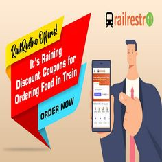 Avail discount offers while travelling in train. Make your journey memorable with delicious food delivered via RailRestro. Food Coupons, Order Food, Discount Coupons, Food N, Delicious Food, Travelling, How To Memorize Things, Journey, Train