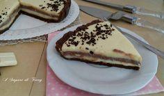 Torta fredda a doppio strato di cioccolato