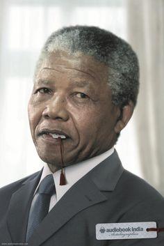 Audiobook India | Nelson Mandela | Print advertising