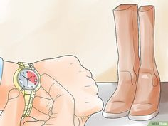 5 Ways to Stretch Boots - wikiHow How To Stretch Boots, 5 Ways, Gladiator Sandals, Stretches, Calves, How To Wear, Horses, Homemade, Fashion
