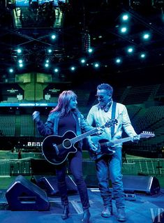 SOUND CHECK  In Paris, Springsteen with his wife, the singer-guitarist Patti Scialfa.