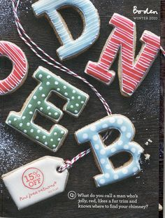 Bespoke biscuits we made for the Boden catalogue cover! Catalogue Cover, Iced Biscuits, Iced Cookies, Cookie Ideas, Letters And Numbers, Cookie Decorating, Bespoke, Families, Finding Yourself