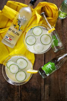 Cucumber Lemonade Spa Martinis