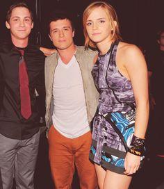 Percy, Peeta, and Hermione.