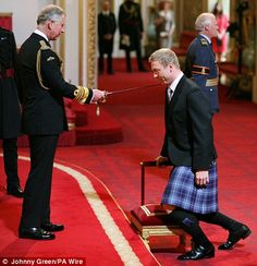 Arise Sir Hoy: Olympic gold medalist Chris Hoy is Knighted by the Prince of Wales